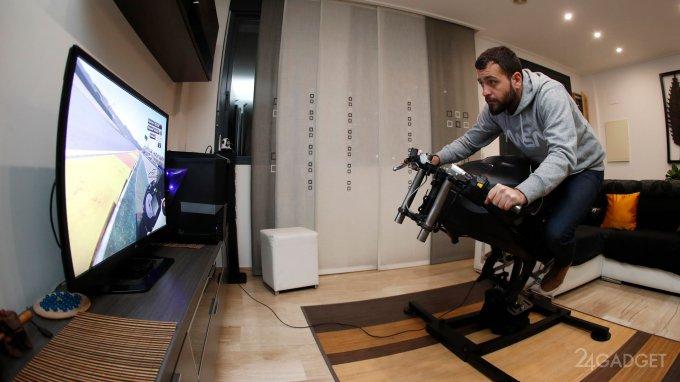 LeanGP — игровой симулятор мотоцикла для дома (8 фото + видео)