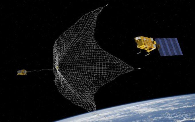 На МКС отправлен охотник за космическим мусором (3 фоо + видео)
