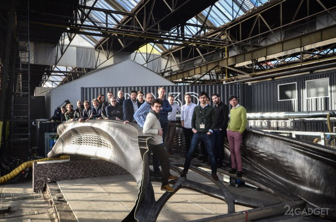 У голландцев готов первый в мире 3D-печатный стальной мост