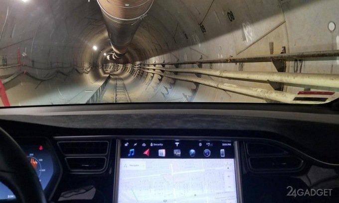 Илон Маск показал туннель под Лос-Анджелесом (видео)