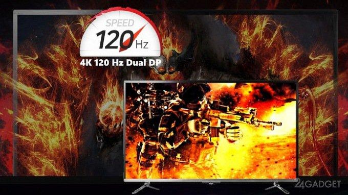Представлен игровой 4K-монитор с частотой обновления 120 Гц (5 фото)