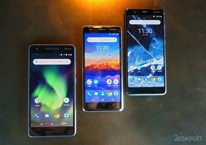 Представлены три стильных бюджетных смартфона Nokia (4 фото + 3 видео)