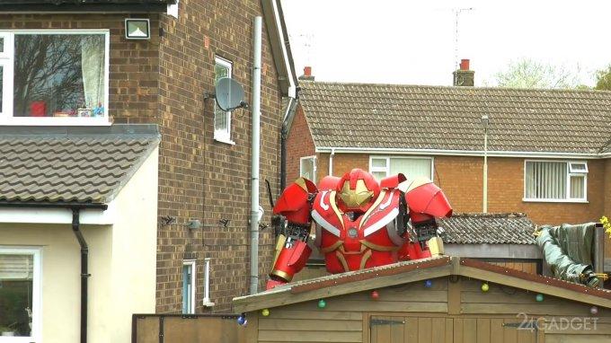 3-метровый костюм Железного человека для обороны и развлечений (4 фото + видео)