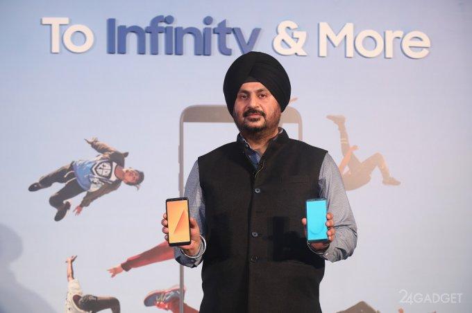 Samsung анонсировала бюджетные смартфоны Galaxy J4, J6 и J8 (4 фото)