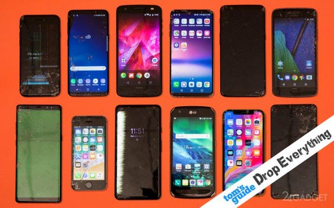 Эксперты «убили» смартфонов на $18 000, чтобы определить самый надежный (видео)