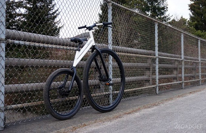 Bicymple Nuvo - городской велосипед без цепи и с забытым дизайном (5 фото + видео)