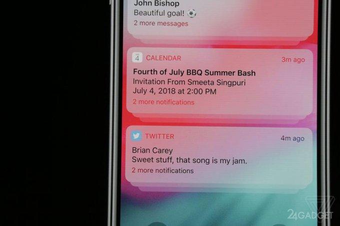 Apple рассказала о нововведениях в iOS 12 (22 фото)