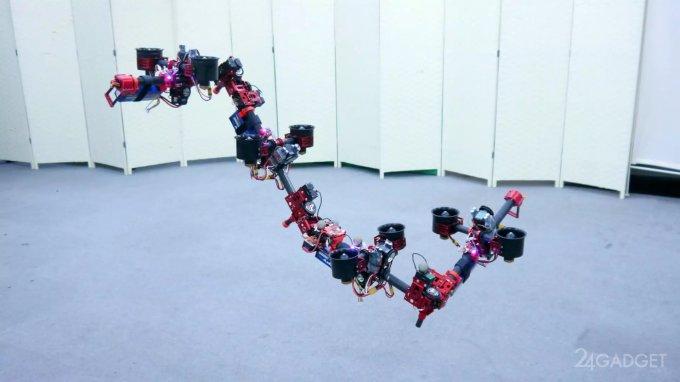 Трансформирующийся робот-дракон меняет форму тела на лету (видео)