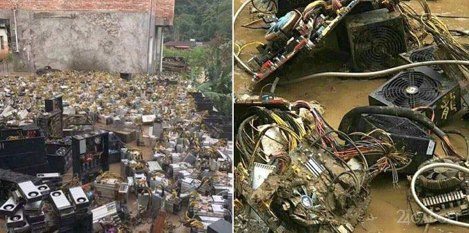 Потоп в Китае поднимет цены на видеокарты (5 фото)