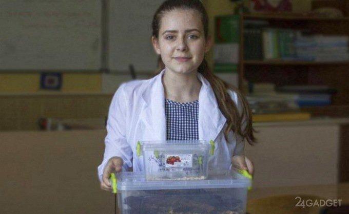 Школьница нашла способ переработки пластиковых пакетов (2 фото + видео)