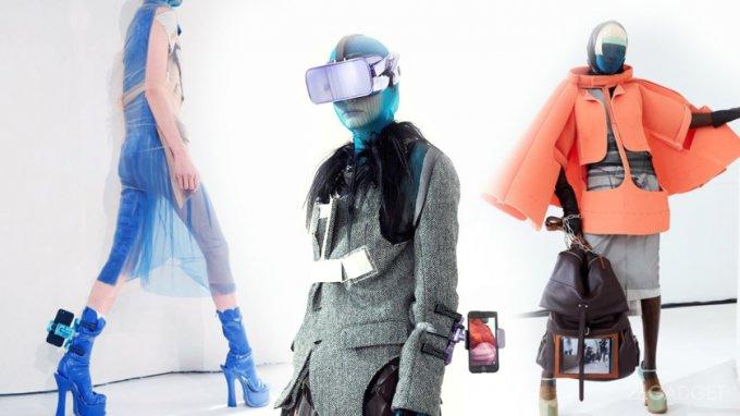 Гаджеты стали главными аксессуарами на модном показе (10 фото + видео)