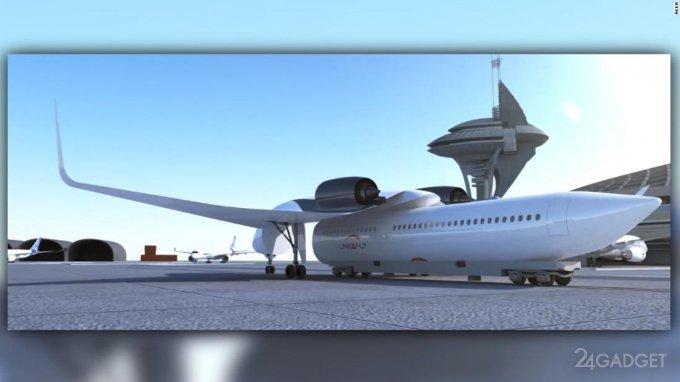 Концепция летающего поезда привлекла Boeing (4 фото + видео)