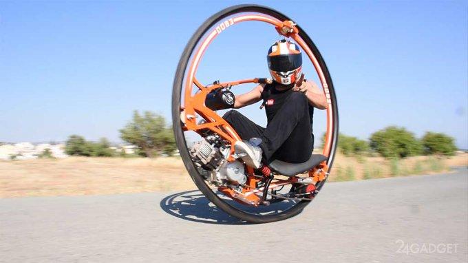 Моторизованное моноколесо — оригинальный самодельный транспорт (3 фото + видео)