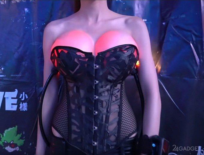 Китайская изобретательница удивила светящейся грудью (6 фото + видео)