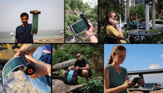 Solar Scroll — солнечная батарея-рулон для путешественников (9 фото + видео)