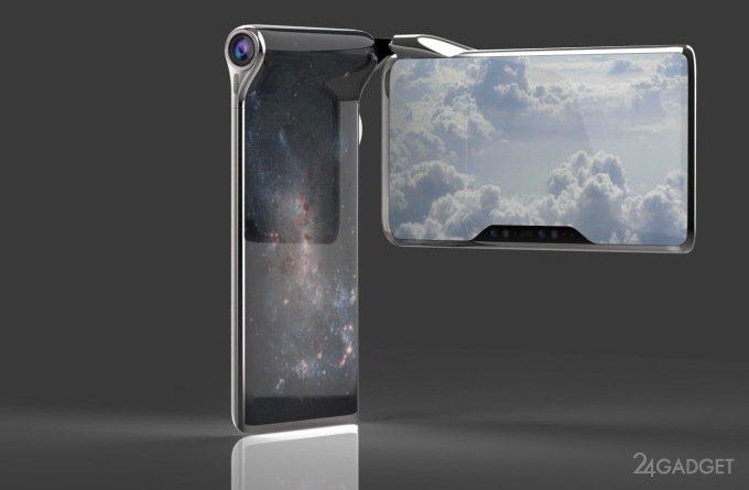 HubblePhone — смартфон с футуристическим дизайном и двумя процессорами (9 фото + видео)
