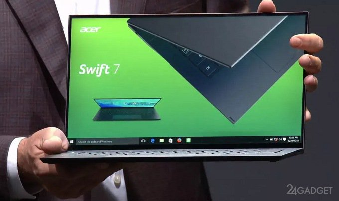 Acer дразнит новым ноутбуком - самыми лёгким и тонким в мире (5 фото)