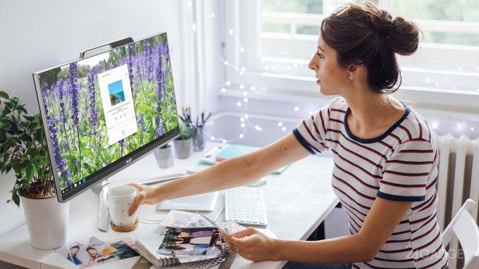 Acer Aspire Z 24 — моноблок с сенсорным экраном и голосовыми помощниками (7 фото + видео)