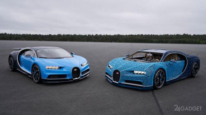 Полноразмерный Bugatti Chiron из LEGO развивает скорость до 20 км/ч (10 фото + 2 видео)
