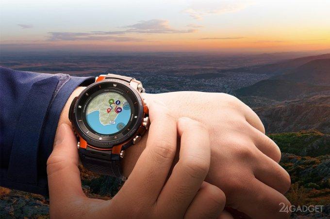 Casio Pro Trek Smart WSD-F30: смарт-часы с двойным экраном и 30 днями работы (7 фото + видео)