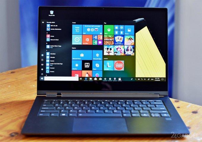 Ноутбук-трансформер Lenovo Yoga C930 получил стилус и необычный динамик (10 фото + видео)