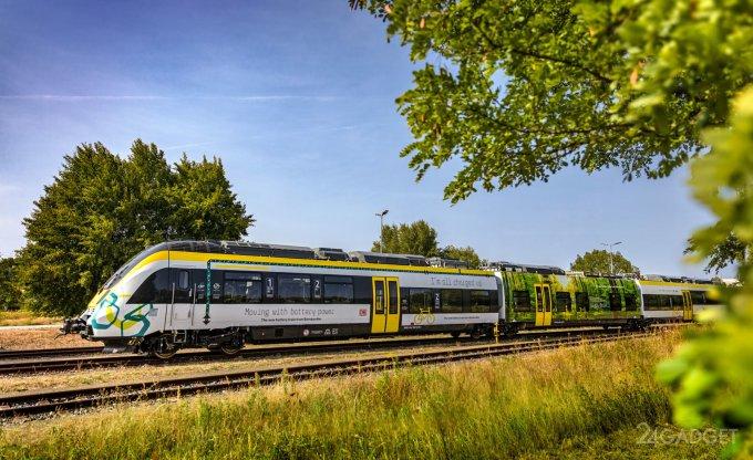 В Германии пассажирский поезд на батареях запустят в следующем году