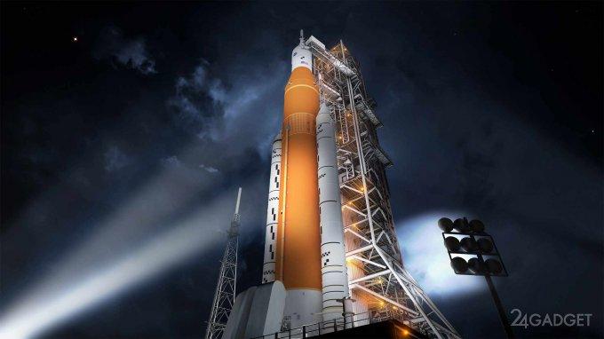 Боинг не уложился в сроки по созданию ракеты SLS для NASA (4 фото)