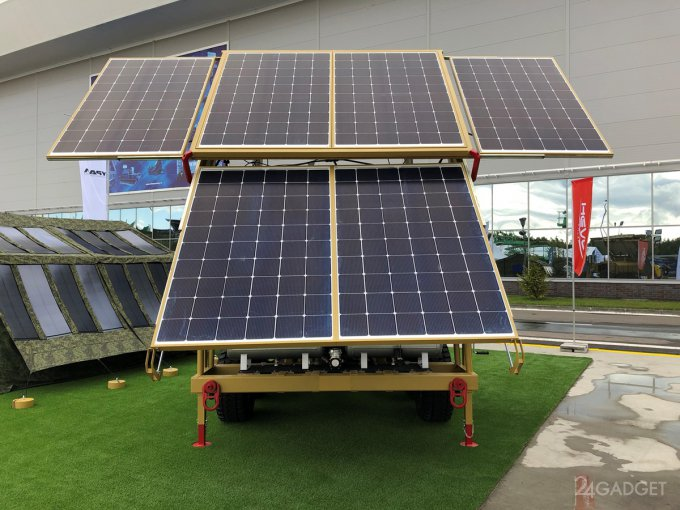 Передвижная солнечная электростанция от российских инженеров (3 фото + видео)