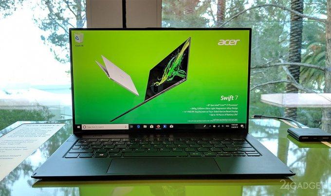 Обновлённый ультрабук Acer Swift 7 похорошел, но не подешевел (9 фото + видео)