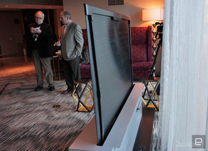 TV-рулон, инсталляция из гибких 4K-панелей и 8K OLED-телевизор от LG (15 фото + 3 видео)