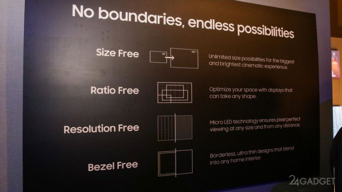 Samsung показала телевизоры с модульными Micro LED-дисплеями (14 фото + видео)