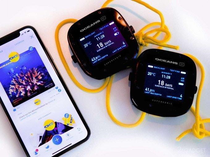 Новый гаджет поможет дайверам общаться под водой (5 фото + видео)