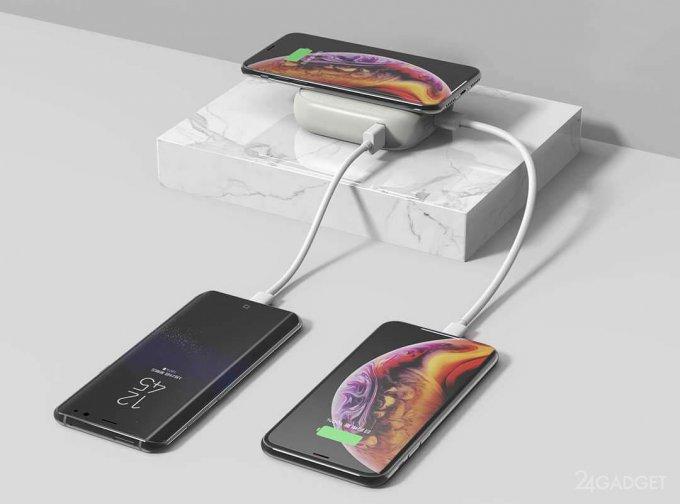 Портативный аккумулятор от Xiaomi с беспроводной зарядкой Qi (7 фото)