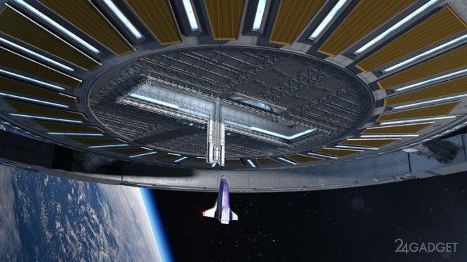 На орбите возведут вращающуюся станцию с искусственной гравитацией (6 фото)