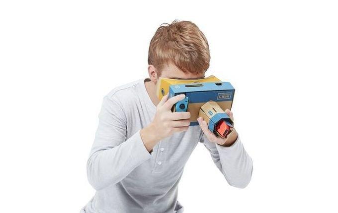 Для Nintendo Switch выпущен странный VR-шлем (8 фото)