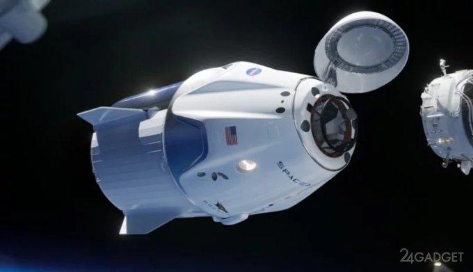 Crew Dragon запустил сигнал тревоги и состыковался с МКС