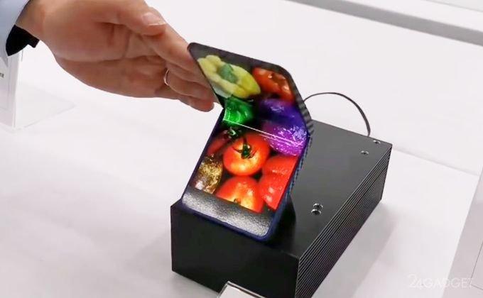 Sharp показала смартфон-раскладушку с гибким дисплеем (видео)