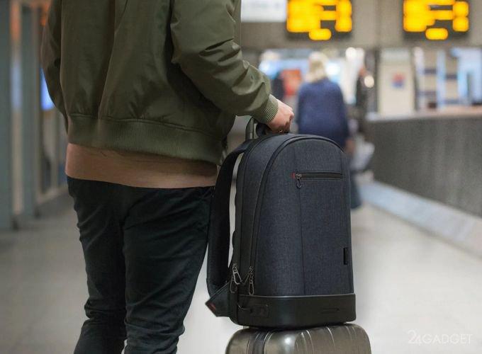 Agazzi: смарт-рюкзак со сканером отпечатков пальцев и подсветкой (9 фото + видео)