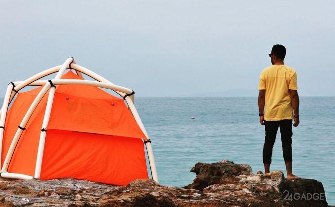 Надувная палатка TentTube устанавливается за 1 минуту (8 фото + видео)