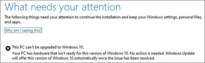 Новое обновление Windows 10 можно будет установить не на все ПК