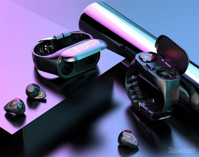 Mafam M1: фитнес-браслет с беспроводными наушниками внутри (5 фото)