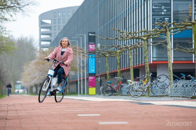 Новый велосипед из Нидерландов вообще не может упасть (4 фото + видео)