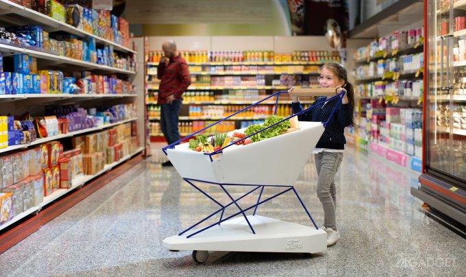 Ford Trolley Hero — умная тележка для магазинов (3 фото + видео)