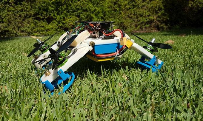 Универсальный дрон умеет ездить по земле (3 фото + видео)