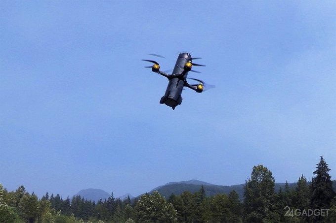 Создан беспилотник-камикадзе для уничтожения дронов (3 фото + видео)