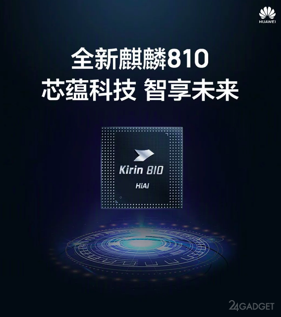 Процессор Kirin 810 от Huawei по 7-нм технологии