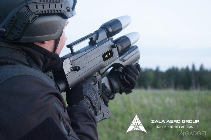 Вывести из строя любой беспилотник теперь сможет российское ружьё REX-2 (3 фото + видео)