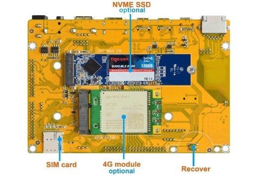 Одноплатный компьютер Boardcon Idea3399 поддерживает 4G и SSD (3 фото)