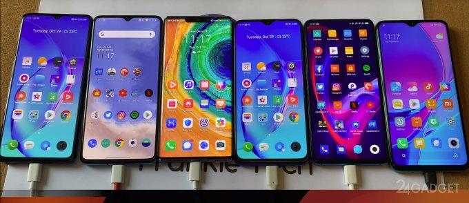 Смартфоны Xiaomi, Realme, OnePlus и HUAWEI протестированы на автономность (видео)