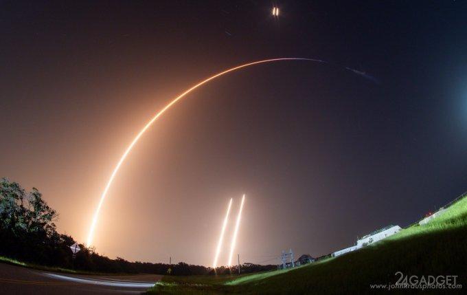 SpaceX запускает очередную группировку из 60 спутников по проекту Starlink